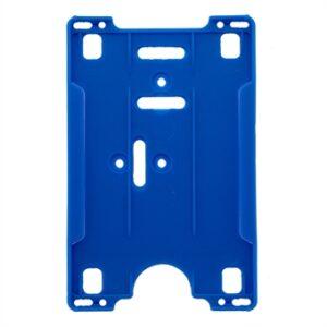 ID kortholder vertikal blå