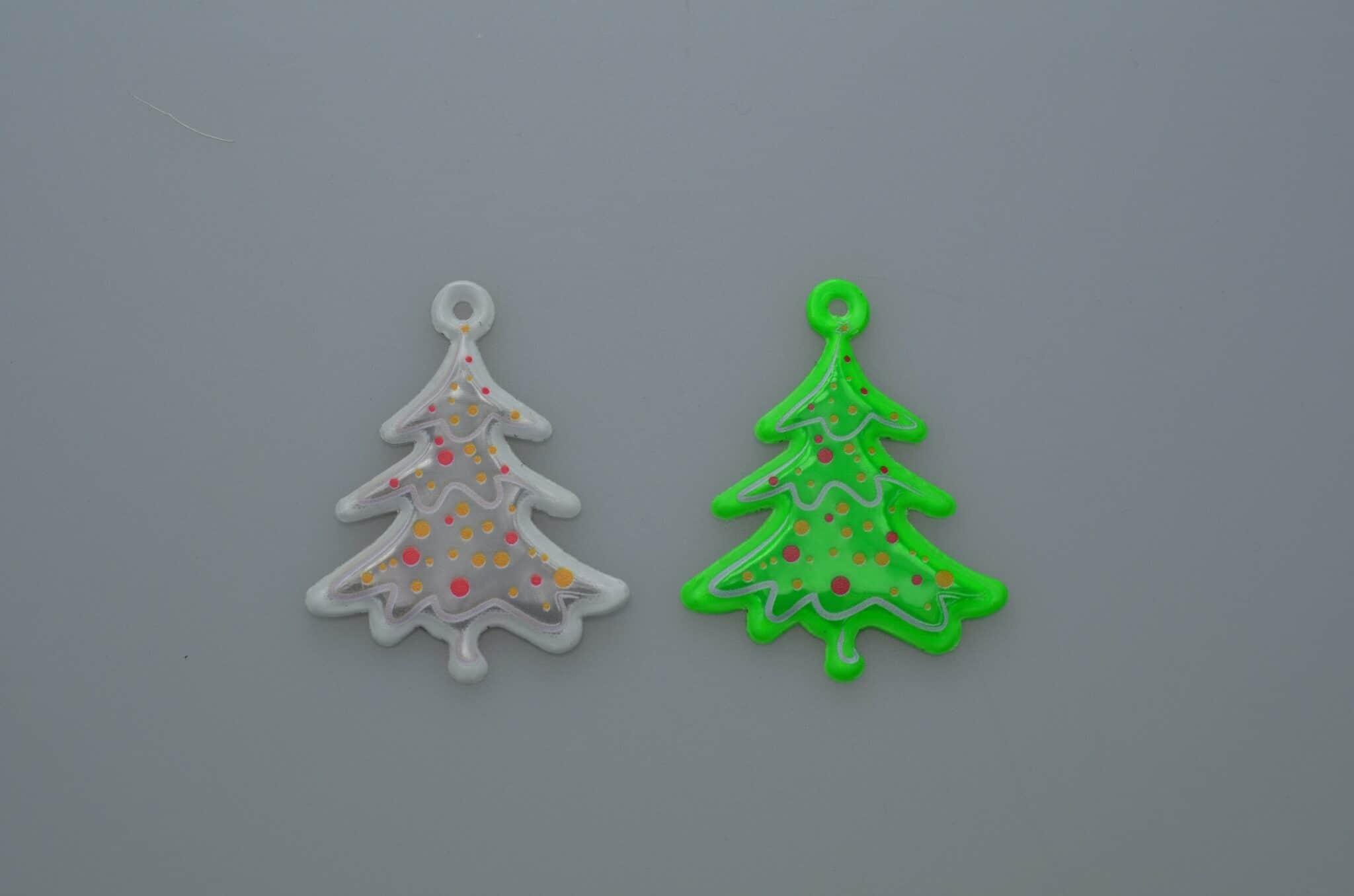 Refleks som juletræ med logo