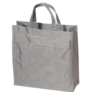 Mulepose med logo sølv