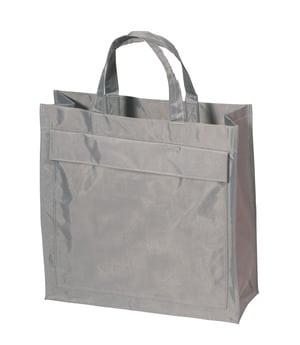 Mulepose grå med logo