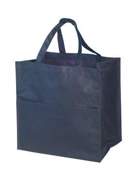 Mulepose mørk blå med logo