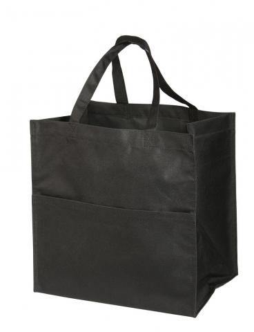 Mulepose mørk sort med logo