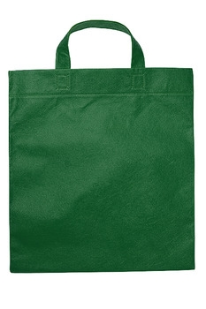 Mulepose med logo grøn