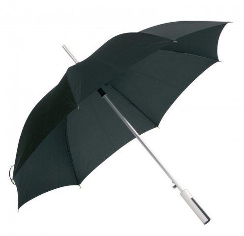 sort paraply med logotryk