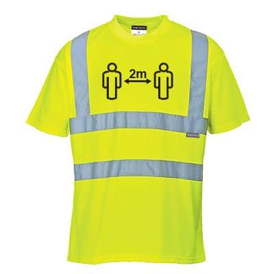 Afstands t-shirt gul