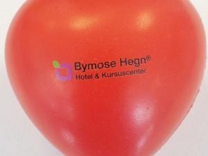 Røde hjerte stressbolde til Bymose Hegn kursuscenter