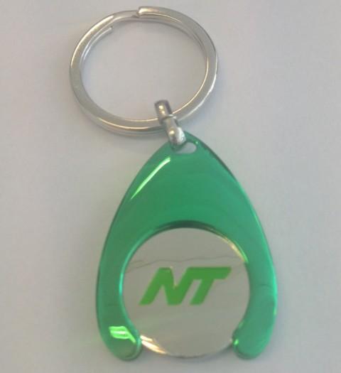 poletnøglering grøn med logo