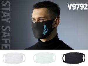 Ansigtsmaske med logo