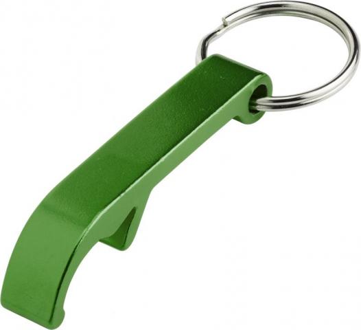 Grøn oplukker nøglering med spiltring logotryk