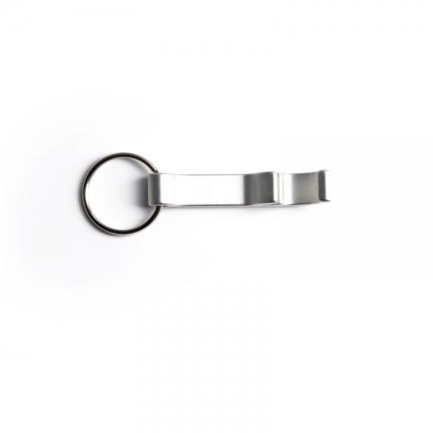 Sølv oplukker nøglering med tryk eller lasergravering