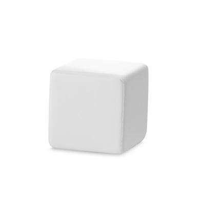 stressbold hvid firkant terning med tryk