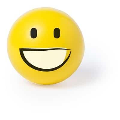 Stressbold smiley gul