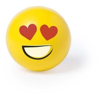 Stressbold smiley hjerter