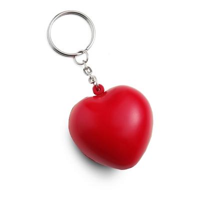 Stressbold hjerte rød nøgleringe