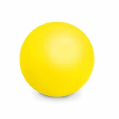 Gul stressbold med logo