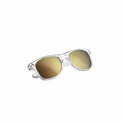 Solbriller med logo - sort og blå