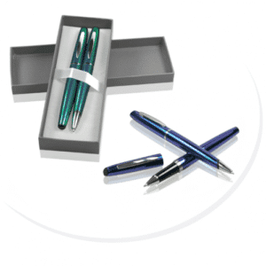 metalkuglepenne med logo gaveæske