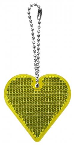 Hjerte refleks gul med logo