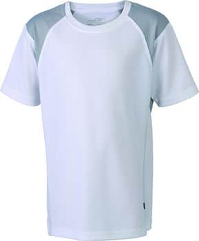 Løbe T-shirt til børn - hvid med logo