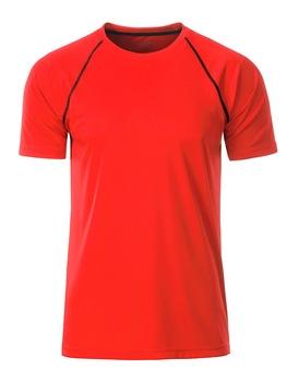rød løbe t-shirt