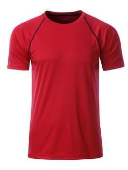 Løbe T-shirt med logo rød