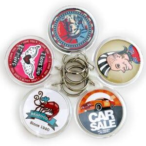 plastik nøglering med logo rund