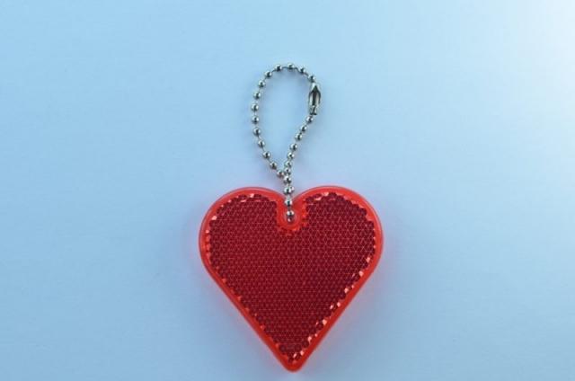 refleks hjerte rød